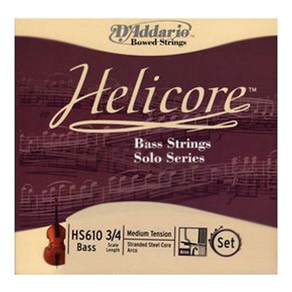 Encordoamento Violino 3/4 D'Addario Helicore Solo HS 610