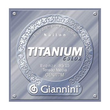 Encordoamento Giannini Violão Genwtm Titanium Medi