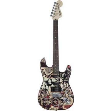 Guitarra Squier Strato Obey Graphic Collage