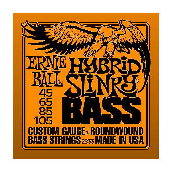 Kit 10 Encordoamentos Ernie Ball Contra Baixo 4C 0.45 2833