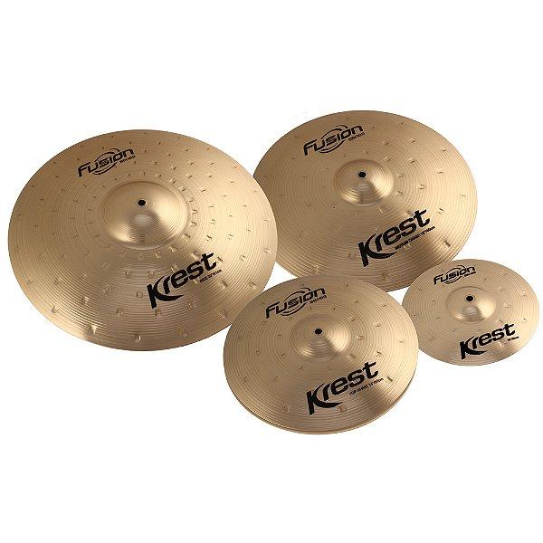"Set Pratos Krest Fusion 10/14/16/20"" C/bag"