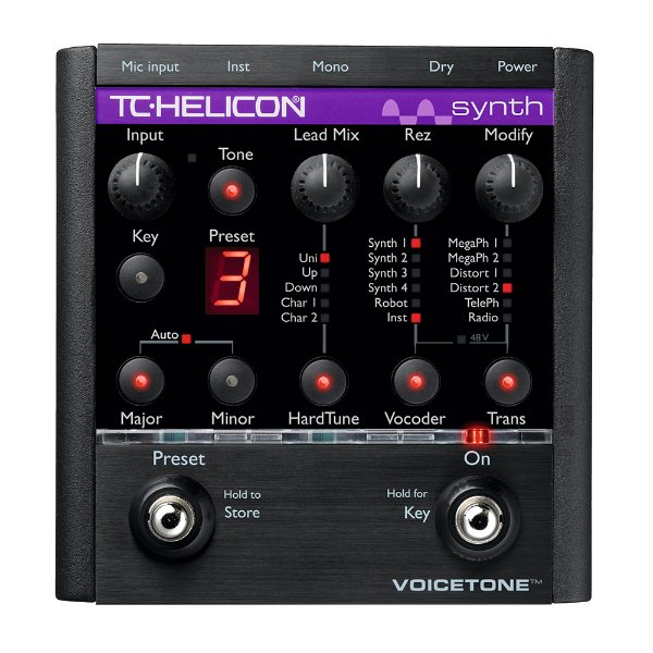 Pedal Voz TC Helicon Voicetone Synth