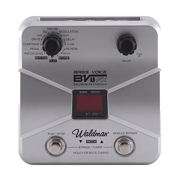 Pedaleira Contrabaixo Waldman Bass Voice BV 1 FX - Preta