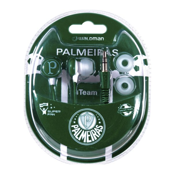 Fone In Ear Waldman Super Fan Palmeiras