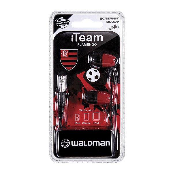Fone In-Ear Waldman Screamyn Buddy Flamengo