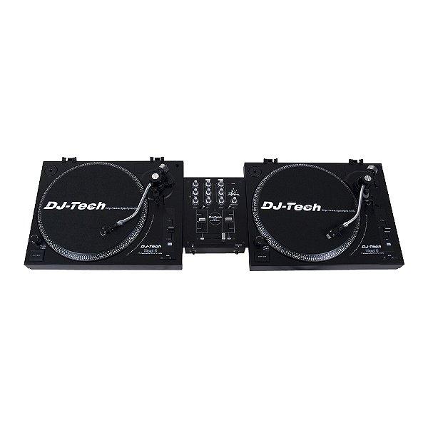 Kit Mixer Controlador DJ Tech Vinyl Control 5