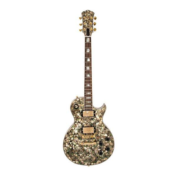 Guitarra LP PHX Luxo Abalone Malibu Pir Top PX