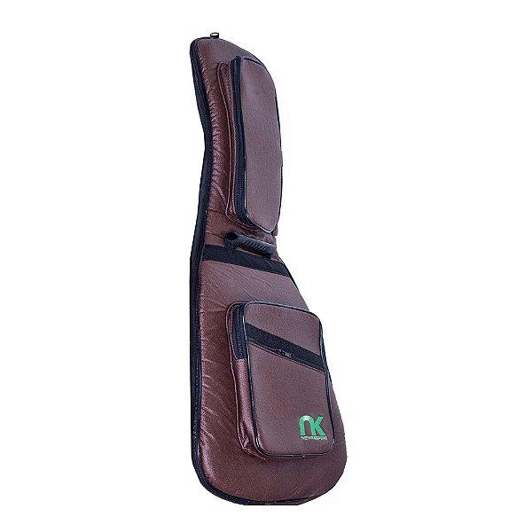 Bag Guitarra Semi Acústica Newkeepers Couro Ecológico