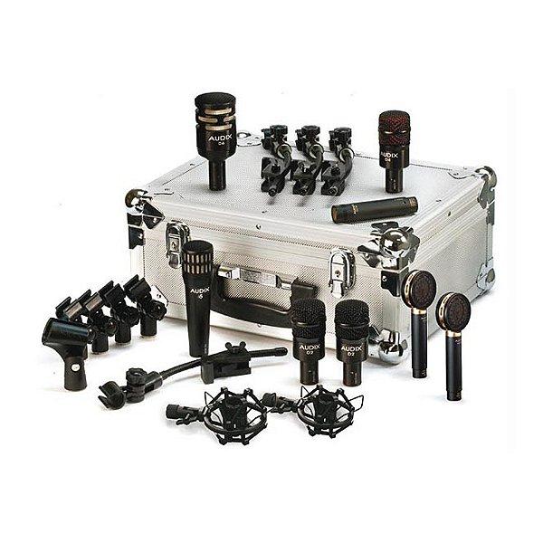 Kit Microfone percurssão Audix DP Elite 8