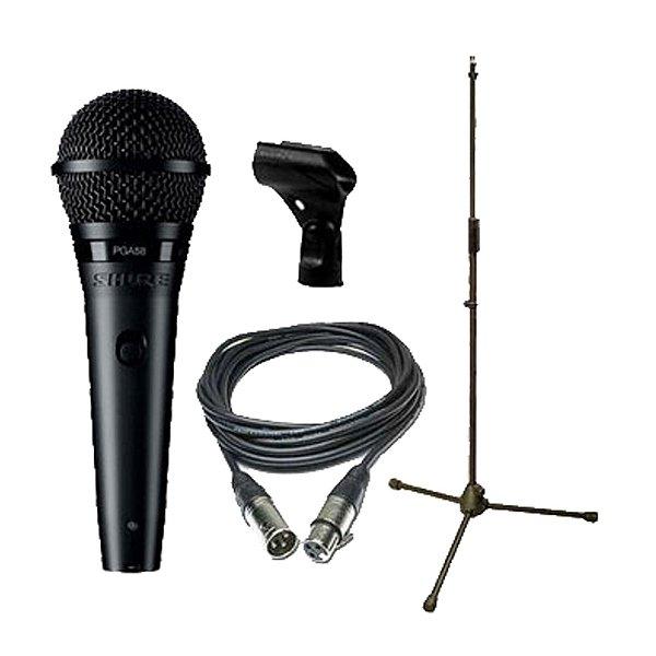 Kit Microfone Mão Shure PGA 58 BTS