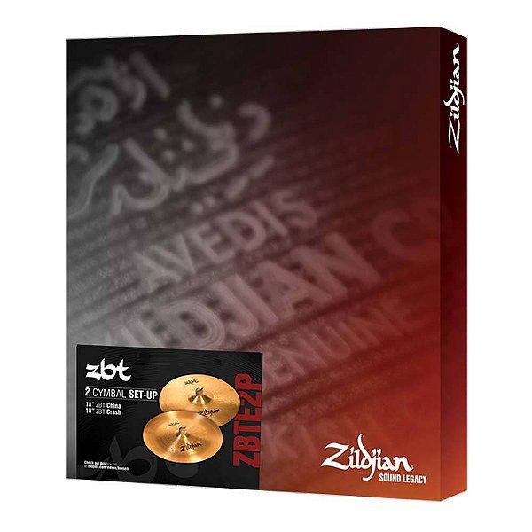 "Set Pratos Zildjian ZBT Expander ZBTE 2 18/18"""