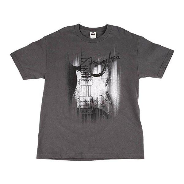 Camiseta Fender Airbrush G - Cinza