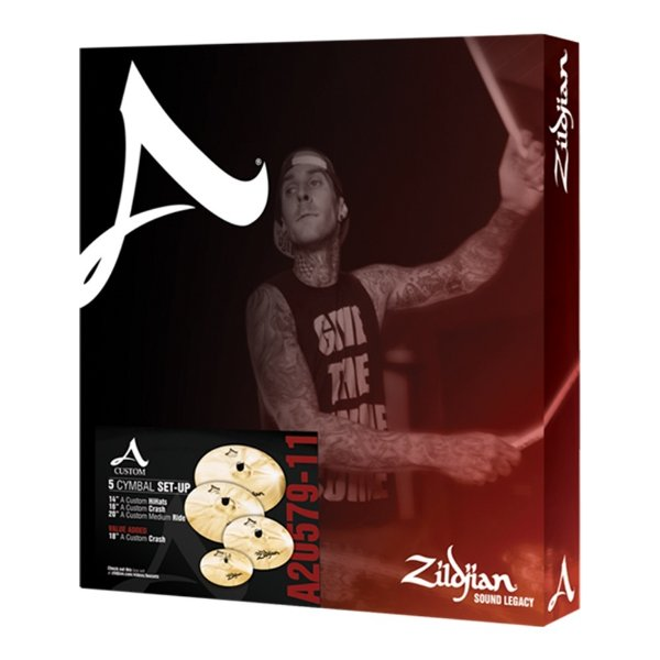 Set Pratos Zildjian A Custom Series A 20579 14/16/18/20""