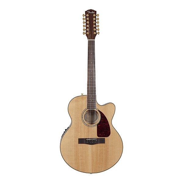 Violão 12C Jumbo Fender CJ 290 SCE 12 N