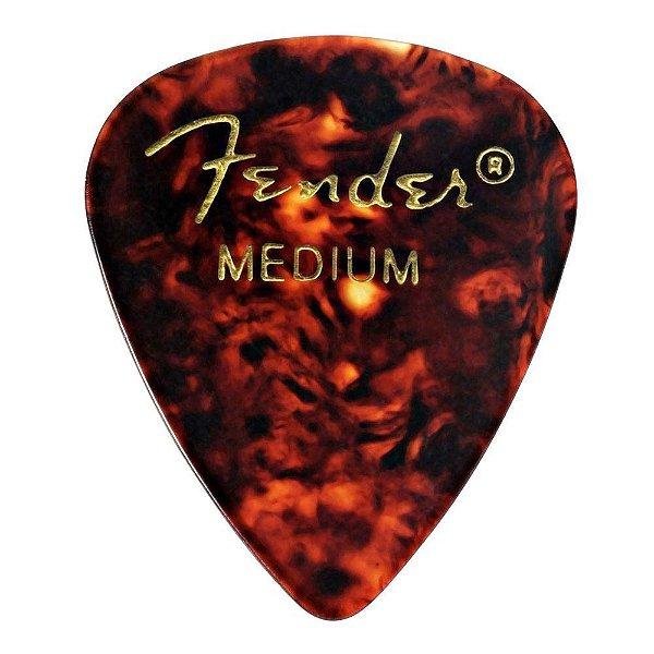 Kit 12 Palhetas Fender Shell Medium Tradicional