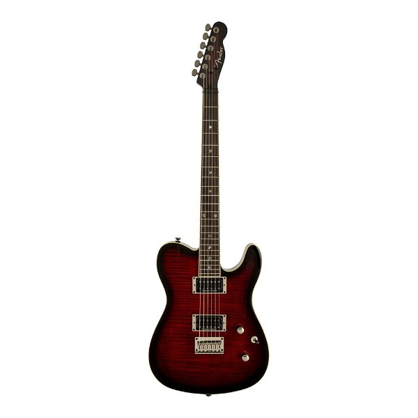 Guitarra Tele Fender Custom FMT HH Black Cherry Burst