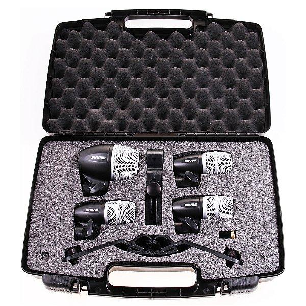 Kit Microfone com Fio Bateria Shure PGDMK4 XLR