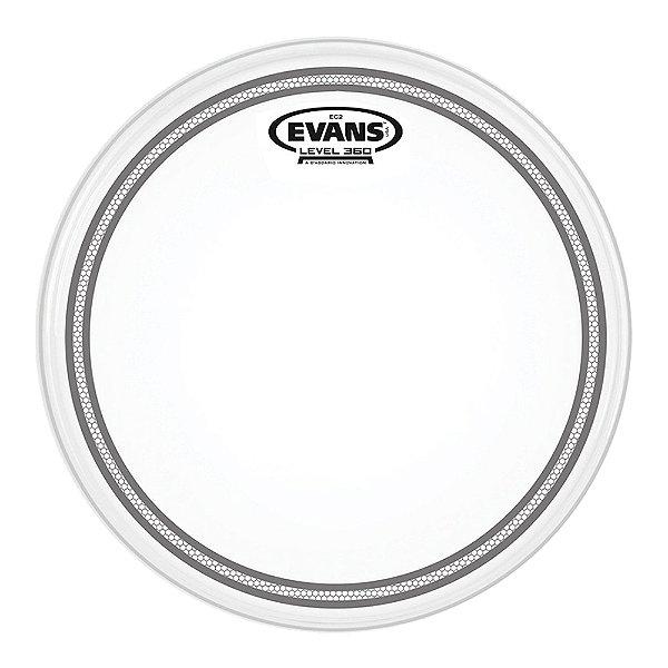 """Pele Hidráulica Tom 13"""" Evans EC2 Clear"""