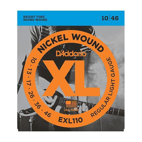 Kit 10 Encordoamento D'Addario EXL 110 10 TP