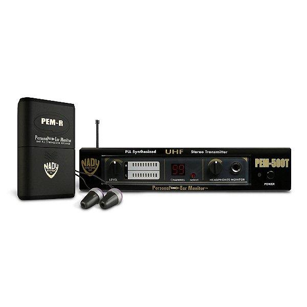 Sistema sem fio Monitor In-Ear Nady PEM 500