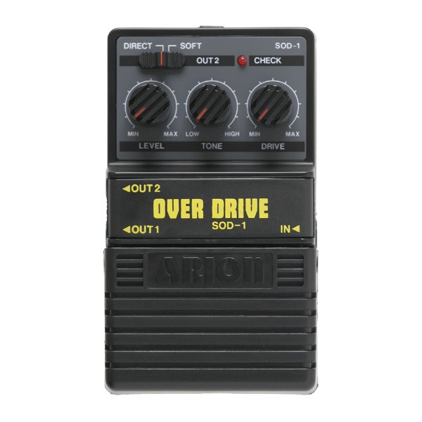 Pedal Guitarra Arion Stereo Overdrive SOD 1