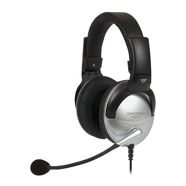 Fone Over-Ear Headset Koss SB 45 USB
