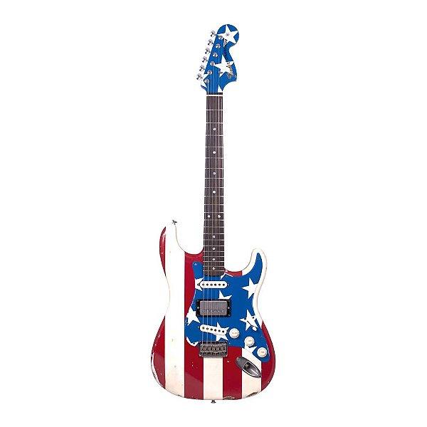 Guitarra Strato Fender Signature Wayne Kramer Stars and Stripes