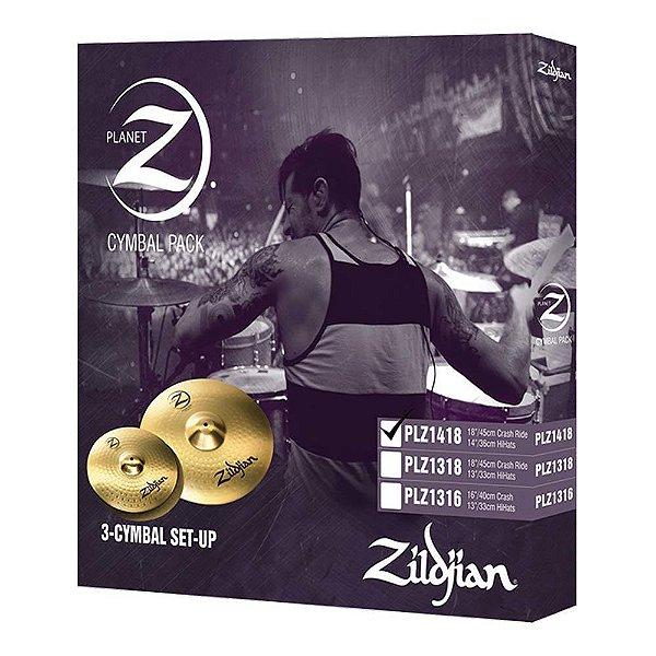 "Set Pratos Zildjian Planet Z PLZ 14/18"""