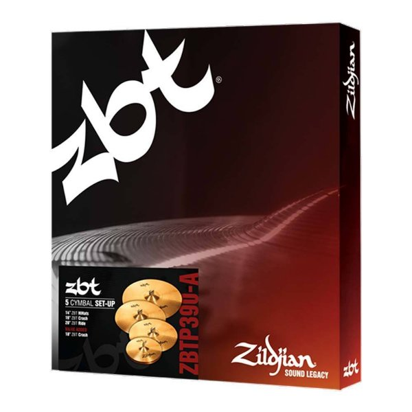 "Set Pratos Zildjian ZBT Five ZBTP 390 A14/16/18/20"""