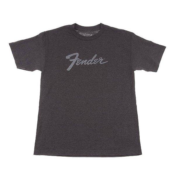 Camiseta Fender Amp Logo P - Cinza Chumbo