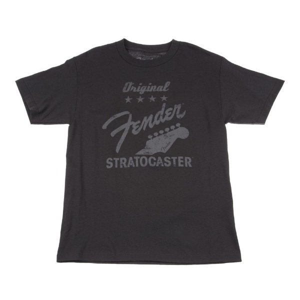 Camiseta Fender Original Strat G - Cinza Chumbo