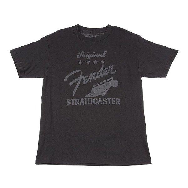 Camiseta Fender Original Strat XG - Cinza Chumbo