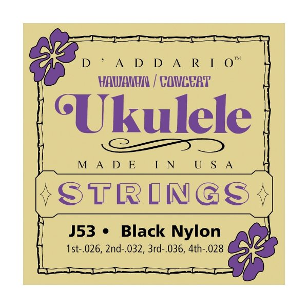 Encordoamento Ukulele Nylon D'Addario 0,26 Havaiano J 53