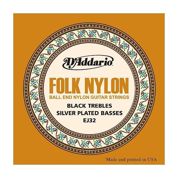 Encordoamento Violão Nylon D'Addario 0,28 Folk Nylon EJ 32