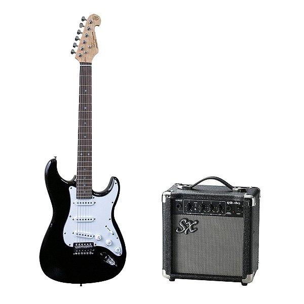 Kit SX Guitarra Strato EG1 + Combo + Acessórios