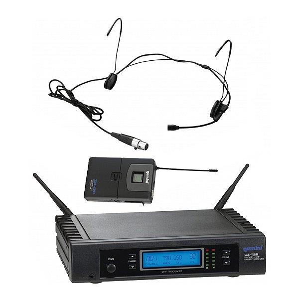 Sistema sem fio Cabeça 128 frequências Gemini UZ 1128 H