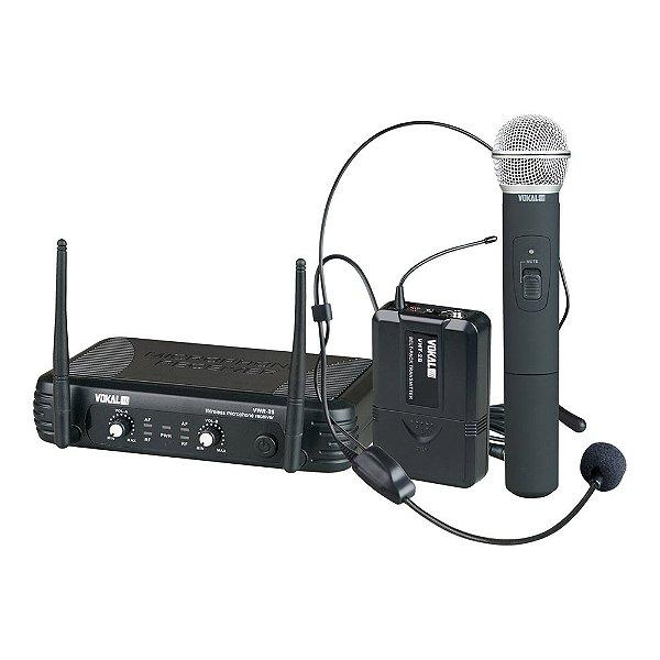 Sistema sem fio Mão/Cabeça Vokal VWR 25 VHT2 + HT9