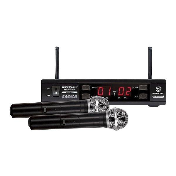 Sistema sem fio Mão UHF Waldman UC 2100 PL - 100 Canais
