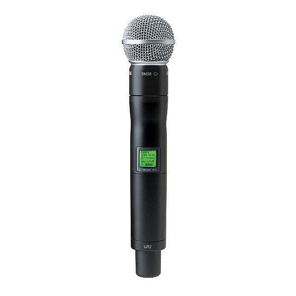 Microfone sem fio Mão Shure UR 2 SM 58 L 3