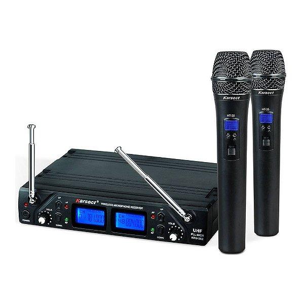 Microfone sem fio Mão Duplo Karsect KRU 362