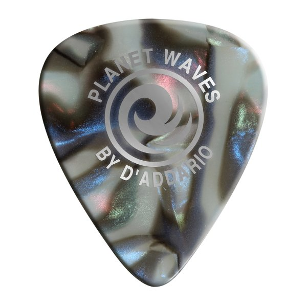 Palheta Planet Waves Abalone Classic Celluloid 50mm (Pack com 10)