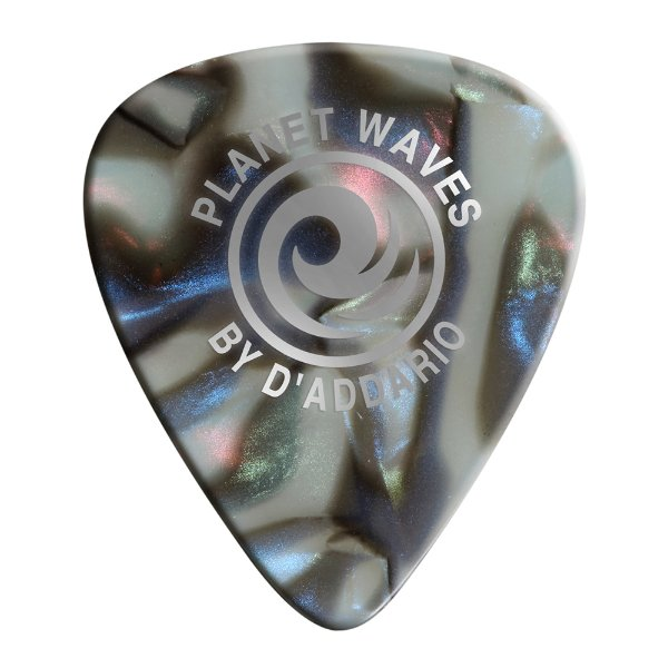 Palheta Planet Waves Abalone Classic Celluloid 50mm (Pack com 100)