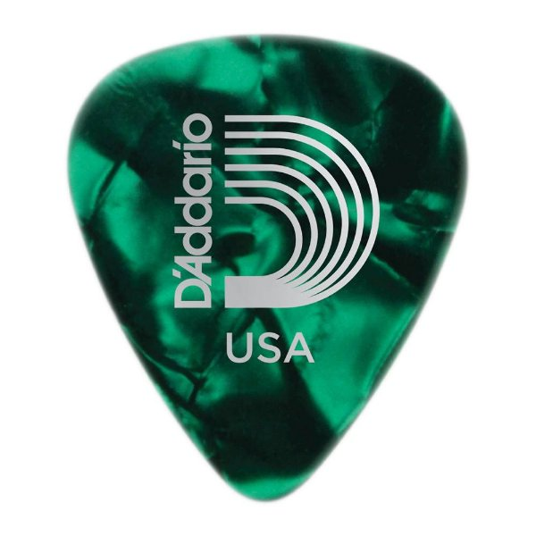 Palheta Planet Waves Perolada Green Extra Heavy (Pack com 100)