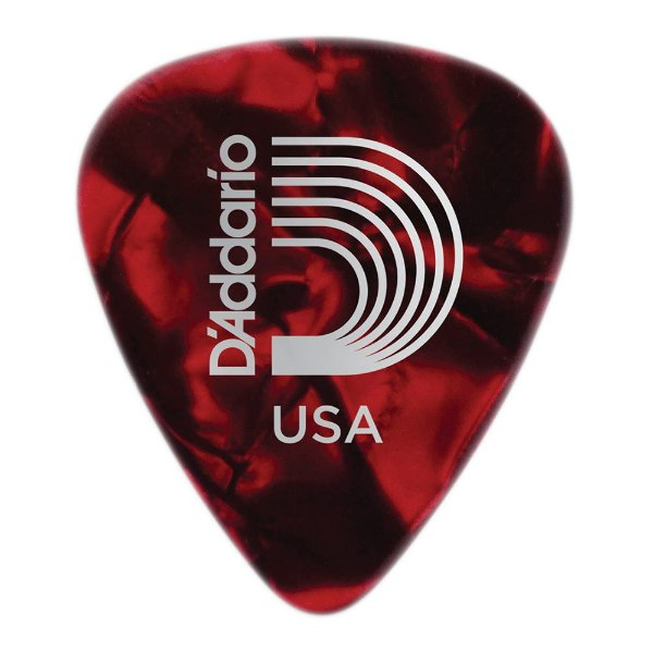 Palheta Planet Waves Perolada Red Medium (Pack com 100)