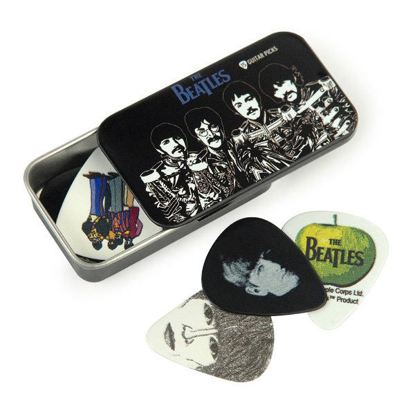 Palheta Planet Waves The Beatles com Lata Especial Sgt. Peppers (Pack com 15 Palhetas Variadas)