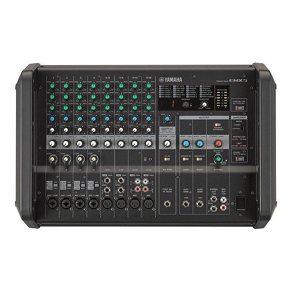 Mesa De Som Amplificada 12 Canais 670 W Yamaha EMX 5