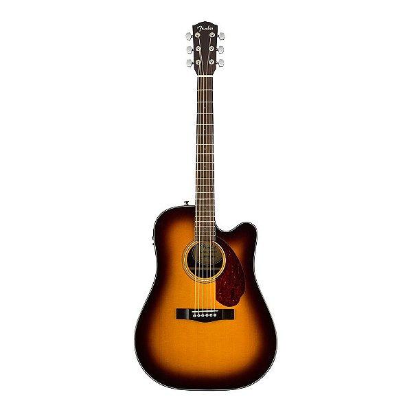 Violao Fender Dreadnought Com Case CD 140 SCE Sunburst