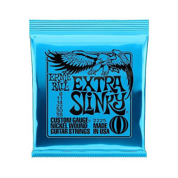Encordoamento de Guitarra Ernie Ball 008. Extra Slinky