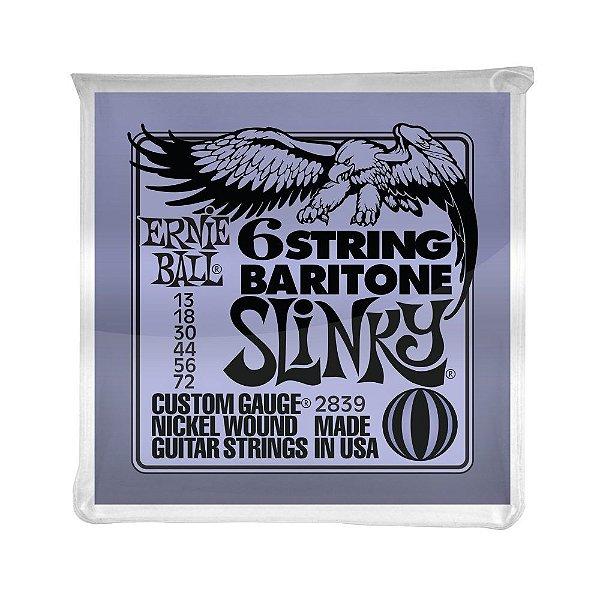 Encordoamento de Guitarra Barítona Ernie Ball 013. Baritone Slinky