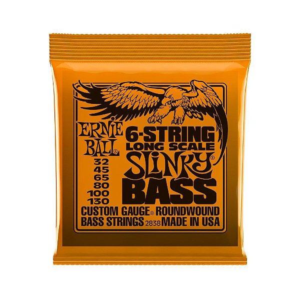 Encordoamento de Contrabaixo 6 Cordas Ernie Ball 032. 6 Strings Bass Slinky